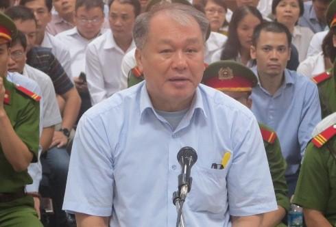 Bị cáo Phạm Công Danh - cựu Chủ tịch Tập đoàn Thiên Thanh tại phiên tòa