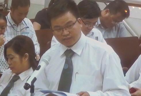 Luật sư Trần Hùng - người bào chữa cho cựu TGĐ Công ty Trung Dung