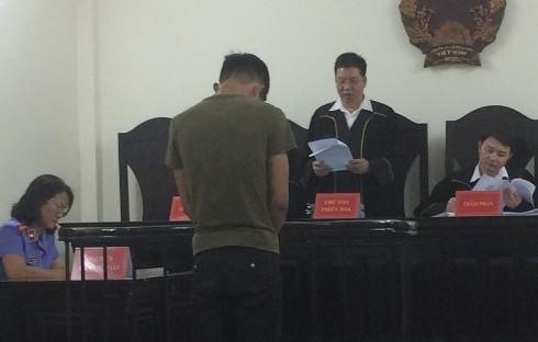 Bị cáo Lê Khánh Trình tại phiên tòa