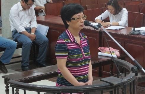 Châu Thị Thu Nga tại phiên tòa sơ thẩm