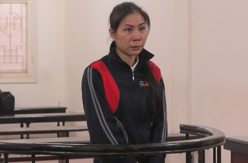 Nguyễn Thị Hoa tại phiên tòa sơ thẩm