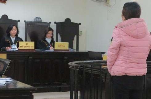 Bị cáo Bùi Thị Phong tại phiên tòa phúc thẩm