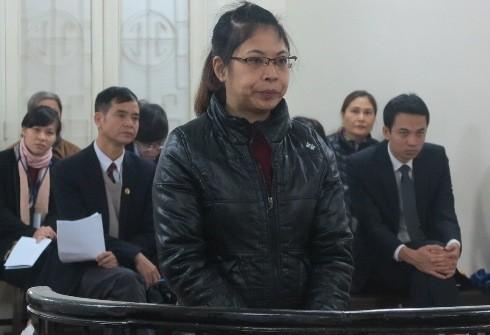 Hoàng Thị Phương Lan, cựu Kế toán trưởng Chi cục Thi hành án quận Ba Đình tại phiên xét xử