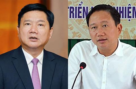 Bị cáo Đinh La Thăng và Trịnh Xuân Thanh, thời điểm chưa bị đề cập xử lý hình sự