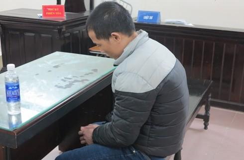 Bị cáo Phùng Văn Sơn tại phiên tòa sơ thẩm