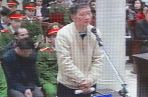 Bị cáo Trịnh Xuân Thanh - nguyên Chủ tịch HĐQT PVC tại phiên tòa