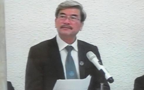 Luật sư Nguyễn Huy Thiệp bào chữa cho bị cáo Đinh mạnh Thắng