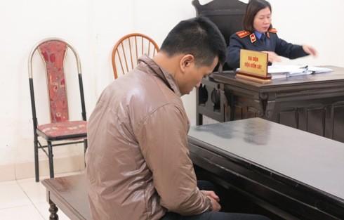 Bị cáo Nguyễn Tiến Mạnh tại phiên tòa
