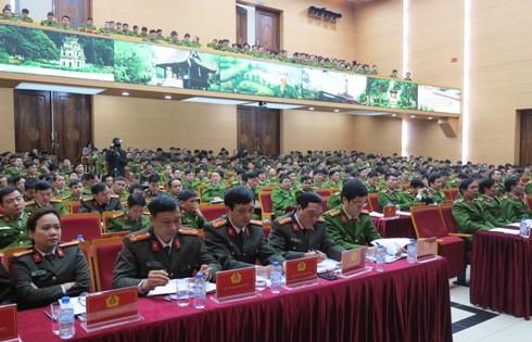 Đại diện các đơn vị thuộc lực lượng Cảnh sát điều tra tội phạm CATP Hà Nội dự Hội nghị Tổng kết công tác năm 2017 và triển khai công tác năm 2018