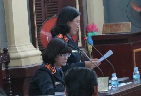Đại diện VKSND TP HCM bày tỏ quan điểm luận tội tại phiên tòa