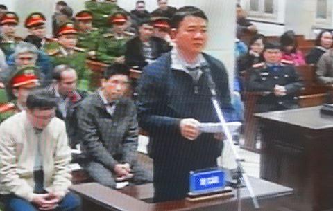 Bị cáo Đinh La Thăng tại phiên tòa sơ thẩm (vụ án khác) hồi tháng 1-2018