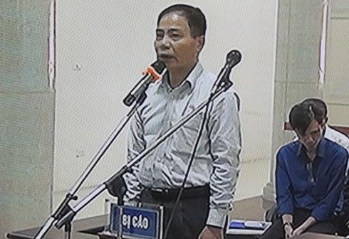 Bị cáo Hoàng Thế Trung (nguyên Giám đốc Ban QLDA cấp nước sông Đà) nói lời sau cùng