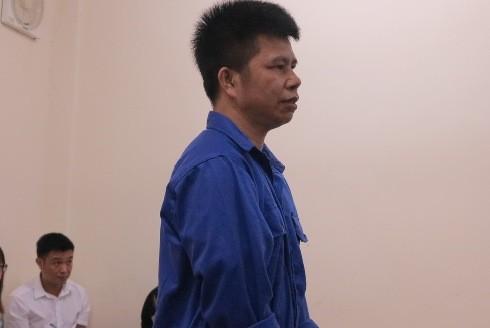 Trần Văn Quang tại phiên tòa sơ thẩm.