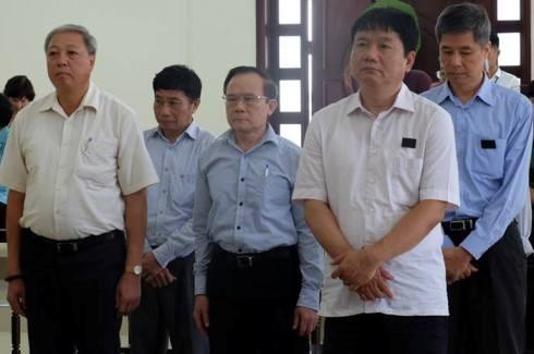 Bị cáo Đinh La Thăng (nguyên Chủ tịch PVN) cùng các bị cáo liên quan.