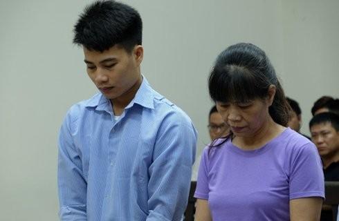 Bị cáo Hoàng Văn Tuấn và đồng phạm tại phiên tòa phúc thẩm.