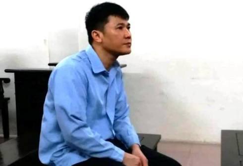 Bị cáo Trần Đức Chính bị đưa ra xét xử tại phiên tòa sơ thẩm.