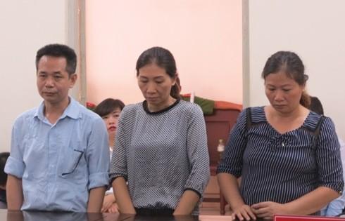 Lê Quốc Dương cùng các đồng phạm bị đưa ra xét xử tại phiên tòa sơ thẩm.