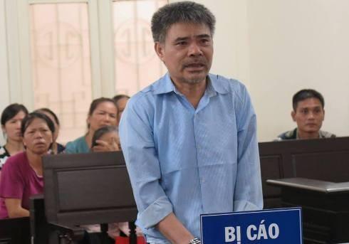 Nguyễn Tiến Hương bị đưa ra xét xử tại phiên tòa.
