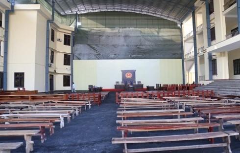 Phòng xử án đặc biệt được TAND tỉnh Phú Thọ thiết kế để phục vụ cho phiên tòa ngày mai.