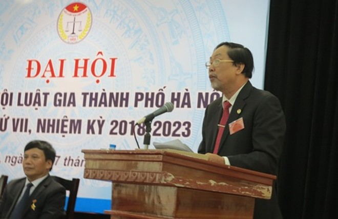 Luật gia Nguyễn Hồng Tuyến được tái bầu giữ Chủ tịch Hội Luật gia TP Hà Nội, nhiệm kỳ 2018-2023.