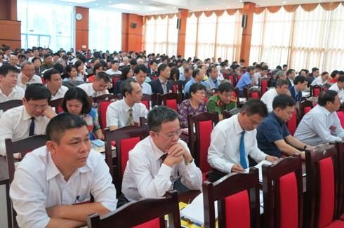 Hàng trăm Đại biểu tham dự Đại hội Đại biểu Hội Luật gia TP Hà Nội.