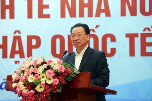 Đồng chí Phùng Hữu Phú, Phó Chủ tịch Thường trực Hội đồng Lý luận Trung ương Đảng Cộng sản Việt Nam, kiêm Chủ tịch Hội đồng Khoa học các cơ quan Đảng Trung ương phát biểu kết luận buổi Hội thảo