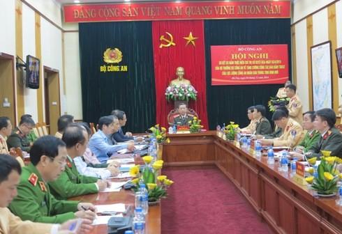 Hội nghị trực tuyến toàn quốc về công tác ATGT của Bộ Công an tại đầu cầu Hà Nội.