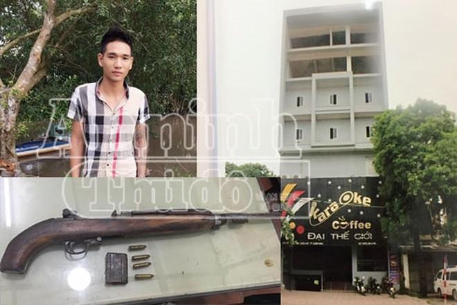 Phan Văn Mạnh và quán karaoke - nơi xảy ra vụ án.