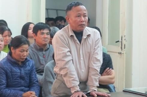 Bị cáo Nguyễn Văn Thanh tại phiên tòa.