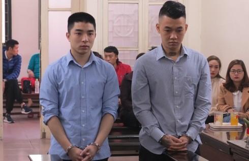 Văn Đức Hiền và đồng phạm tại phiên tòa sơ thẩm.