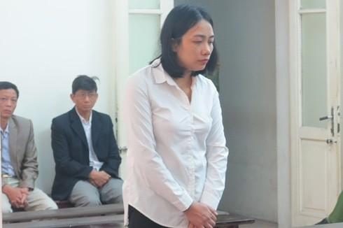 Bị cáo Phùng Thị Thanh tại phiên tào sơ thẩm.