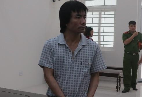 Bị cáo Bùi Đắc Cường tại phiên tòa sơ thẩm.