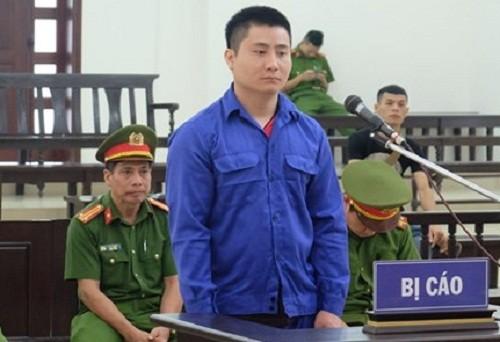 Phạm Quang Hiếu tại phiên tòa phúc thẩm.