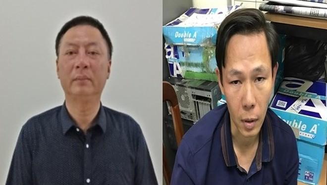 Lê Minh Tiến (bên trái) và đồng phạm.