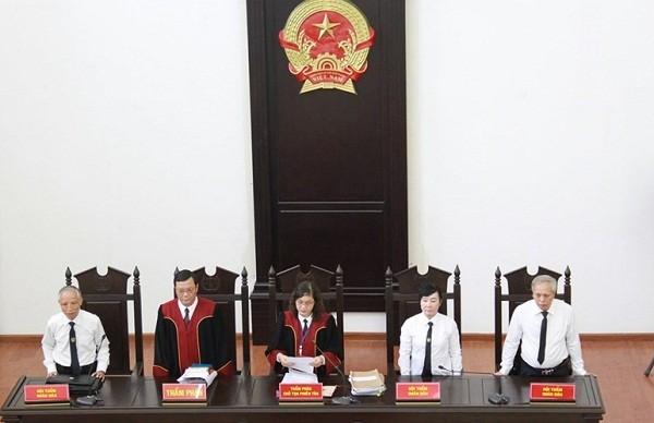 HĐXX sơ thẩm vụ án do Thẩm phán Nguyễn Thị Xuân Thu làm chủ tọa.