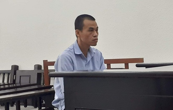 Đào Xuân Mạnh tại phiên tòa.