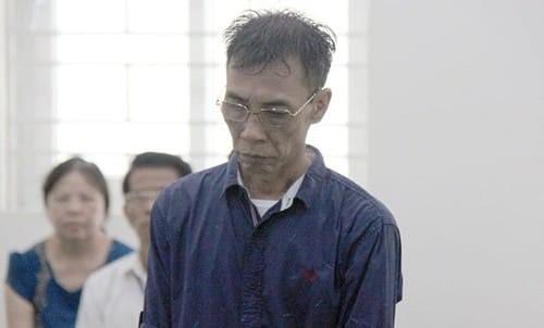 Nguyễn Trọng Nghĩa tại phiên tòa.