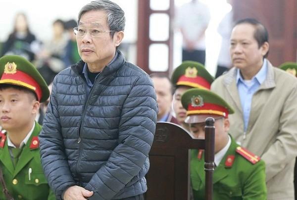 Bị cáo Nguyễn Bắc Son - cựu Bộ trưởng Bộ TT&TT tại phiên tòa.