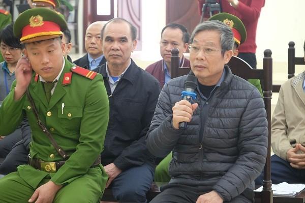 Cựu Bộ trưởng Nguyễn Bắc Son tại phiên tòa.