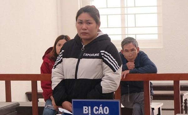 Bị cáo Bùi Thị Nguyệt tại phiên tòa phúc thẩm.