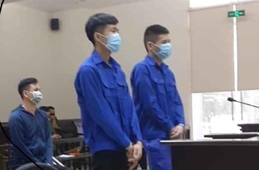 Mai Văn Nguyên và đồng phạm tại phiên tòa phúc thẩm.