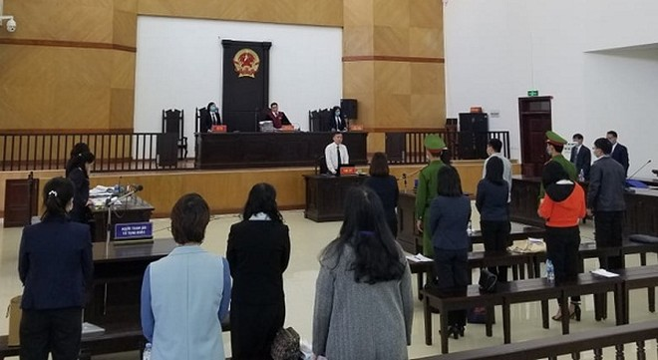 Phiên toà xét xử bị cáo Hà Văn Thắm và các đồng phạm.