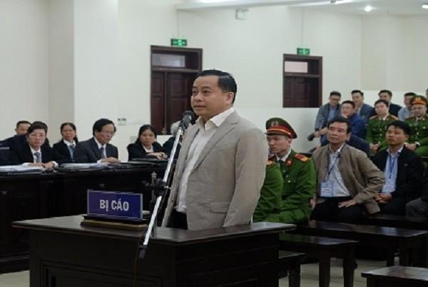 Bị cáo Phan Văn Anh Vũ tại phiên toà sơ thẩm.