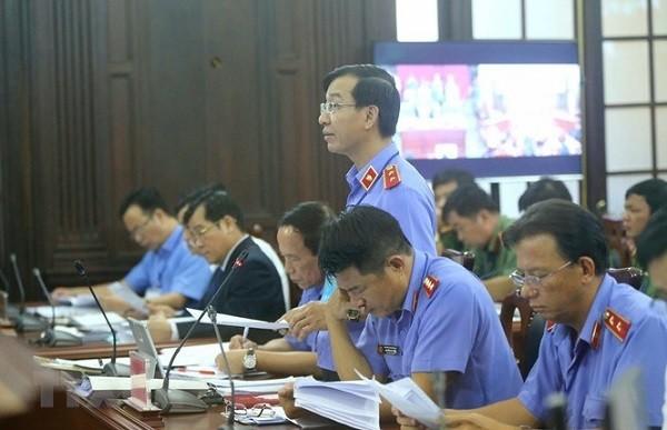 Đại diện VKSND Tối cao tham gia phiên giám đốc thẩm.