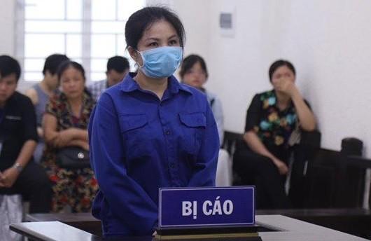 Bị cáo Nguyễn Thị Vững tại phiên tòa phúc thẩm.