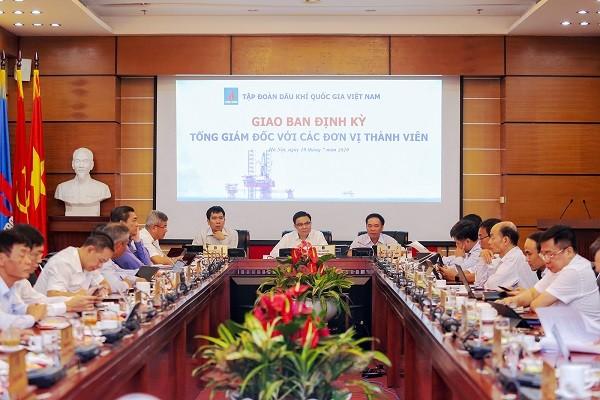 Hội nghị giao ban Tổng giám đốc với các đơn vị thành viên.