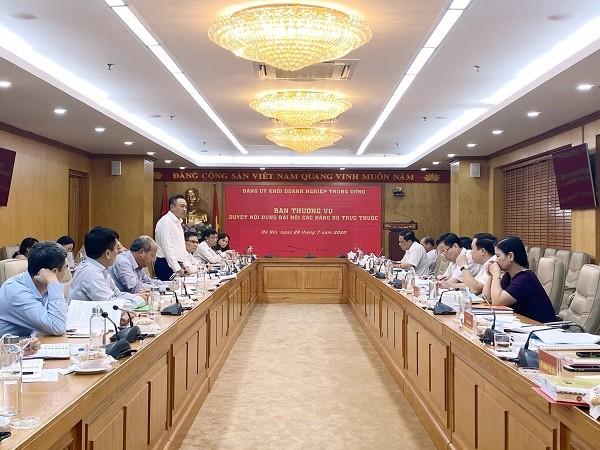 Ban Thường vụ Đảng ủy Khối Doanh nghiệp Trung ương duyệt nội dung Đại hội Đảng bộ Tập đoàn