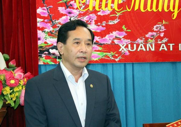 Đồng chí Nguyễn Văn Hiếu - Phó bí thư, Chủ tịch UBND quận Hai Bà Trưng cảm ơn sự quan tâm lãnh đạo, chỉ đạo của lãnh đạo Bộ Công an, CATP đối với CAQ Hai Bà Trưng