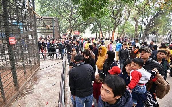 Vườn thú Hà Nội là điểm đến của nhiều du khách các tỉnh thành trong cả nước và quốc tế