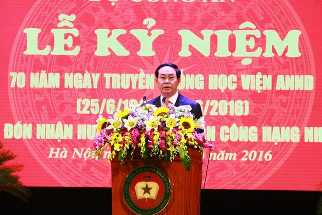 Chủ tịch nước Trần Đại Quang dự và phát biểu tại Lễ kỷ niệm